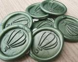 Wax Seal Adhesive wax seals - Moss Green Pearl