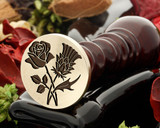 Rose and Thistle D3 Wax Seal Stamp