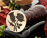 Thistle and Rose Wax Seal D3