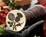 Copy Rose n Thistle Wax Seal Stamp - D2