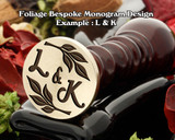 Foliage Monogram Example L&K