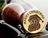 Christmas Wax Seal Santa Merry Christmas D1