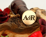 "Initials ""A&R"" Sale Monogram Wax Seal"