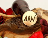 "Initials ""ARW"" Sale Monogram Wax Seal"