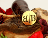 """B Reflected"" Sale Monogram Wax Seal"