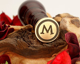 "Initials ""M or W"" Sale Monogram Wax Seal"