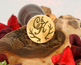 "Initials ""C&K"" Antlers Sale Monogram Wax Seal"