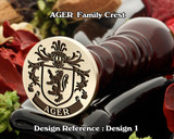 AGER Family Crest Wax Seal D1
