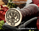 Ferguson (1) Scottish Clan Wax Seal, also for Cufflinks and Signet Ring D1