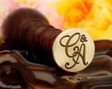 "Monogram Initials ""C&A"" Wax Seal 25mm"