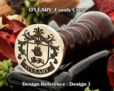 O'LEARY Family Crest Wax Seal D1