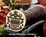 RACKLEY Family Crest Wax Seal D1