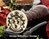 GILROY Family Crest Wax Seal D1