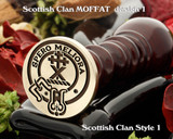 Moffat (1) Scottish Clan Wax Seal D1