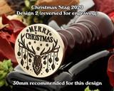 Christmas Reindeer 2020 D2 Wax Seal Stamp