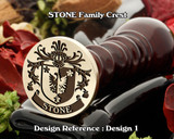 Stone Family Crest Wax Seal D1