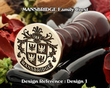 MANSBRIDGE Family Crest Wax Seal D1
