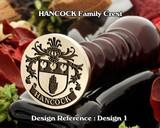 HANCOCK Family Crest Wax Seal D1