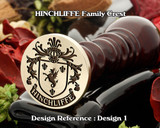 HINCHLIFFE Family Crest Wax Seal D1