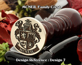 MCNEIL Family Crest Wax Seal Stamp D7