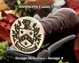 HAMMOND Family Crest Wax Seal D4