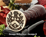 LADD Family Crest Wax Seal D8