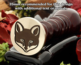 Fox Wax Seal Stamp D1