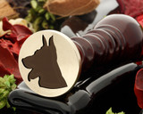Alsatian dog wax seal