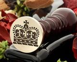 Crown 6 wax seal