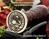 Agnew Scottish Clan Wax Seal D3