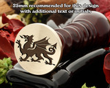 Welsh Dragon D2 Wax Seal Stamp