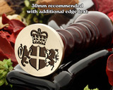 Royal Crest wax seal