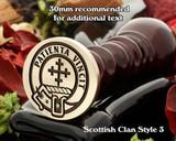Cheyne Scottish Clan Wax Seal D3