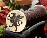 Griffin wax seal reversed for engraving