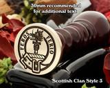 Chisholm Scottish Clan Wax Seal D3