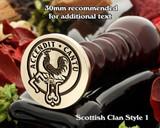 Cockburn Scottish Clan Wax Seal D1