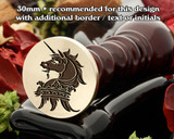 Heraldry Unicorn Head Erased Ducal Coronet Wax Seal