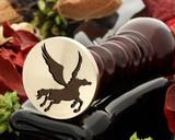 Pegasus wax seal, reversed for engraving
