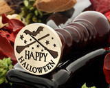 Happy Halloween Broomsticks Design