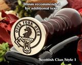 Cunningham Scottish Clan Wax Stamp D1
