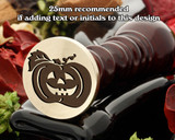 Halloween Pumpkin D2 wax seal