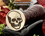 Halloween Skull Wax Seal