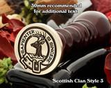 Davidson (2) Scottish Clan Wax Seal D3