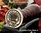 Douglas Scottish Clan Wax Seal Stamp Style 3