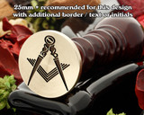 Masonic Square and Compass D4 Wax Seal