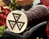 Masonic 5 wax seal