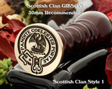 Gibson Scottish Clan Wax Seal D1 also for Cufflinks and Signet Rings