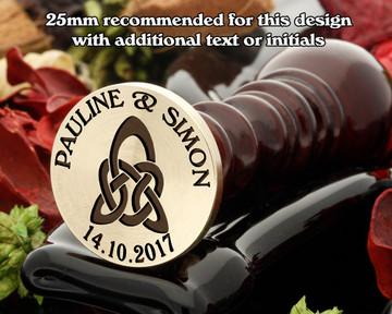 Celtic D4 Wax Seal, additional text extra