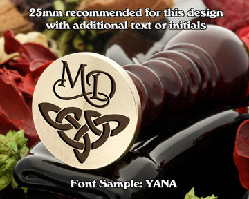 Celtic Wax Seal D9 with monogram MD
