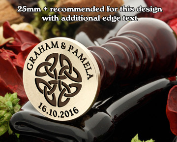 Celtic Wax Seal D13, edge text extra cost